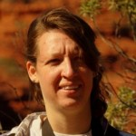 Jessica Sushinsky birding at Uluru - August 2010
